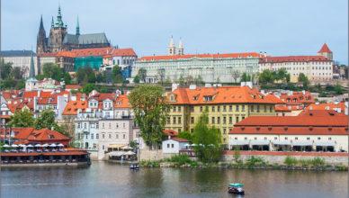 Widok na Hradczany w Pradze