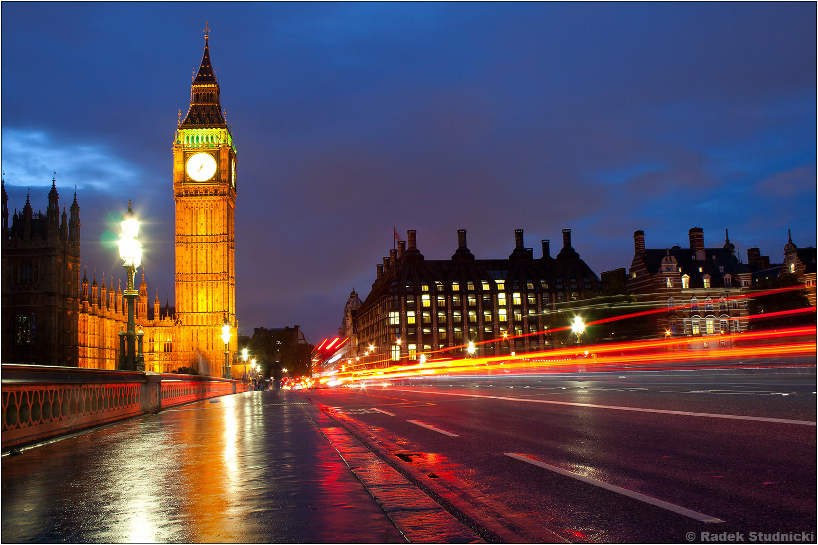 Big Ben nocą