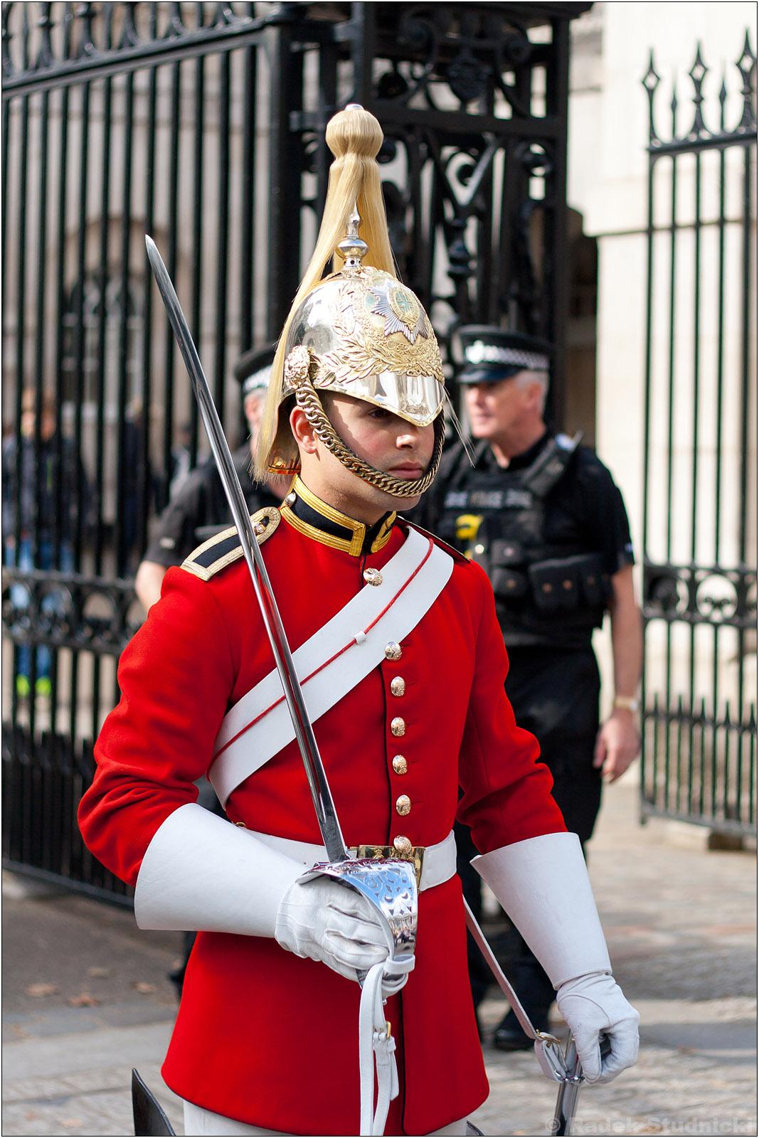 Strażnik przed budynkami rządowymi w Londynie