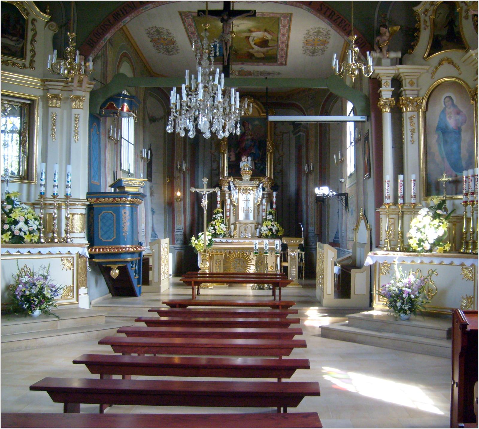 Wnętrze kościoła św.Erazma w Barwałdzie Dolnym