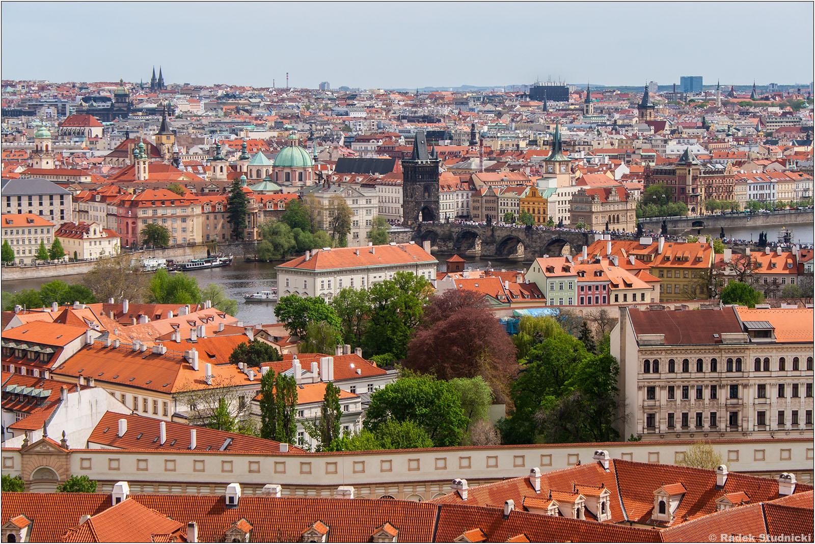 Praga widok z Hradczan
