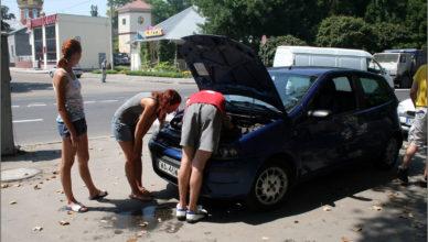 Voznesensk: Zepsute auto w połowie trasy