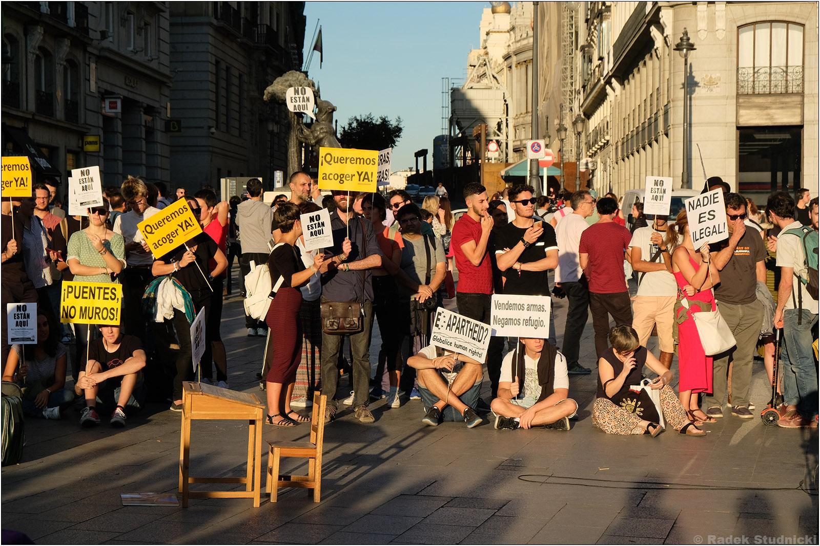 Protest na Puerta del Sol