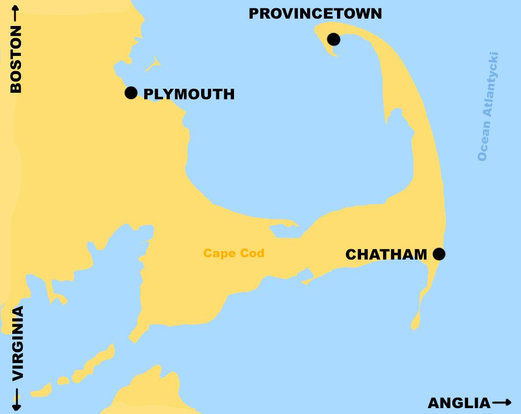 Mapa Cape Cod