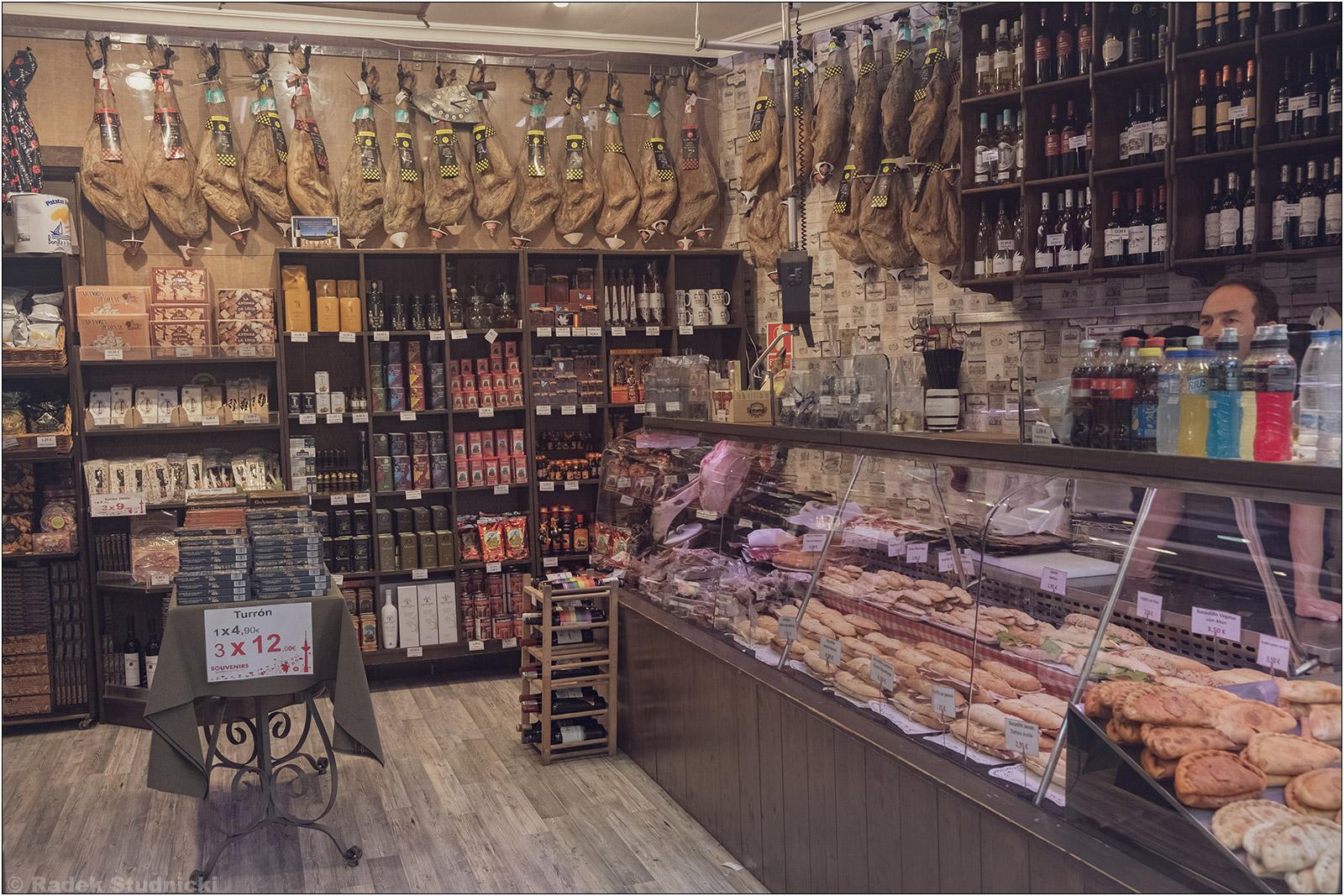 Sklep mięsny w Madrycie