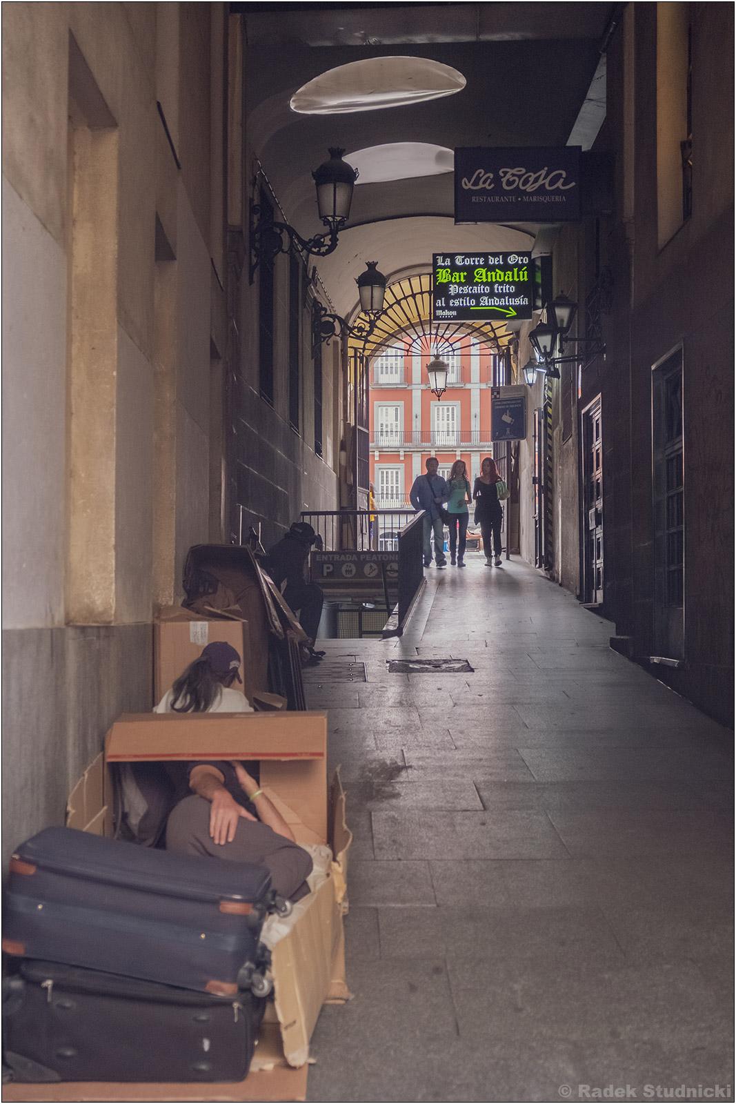 Bezdomni w Madrycie