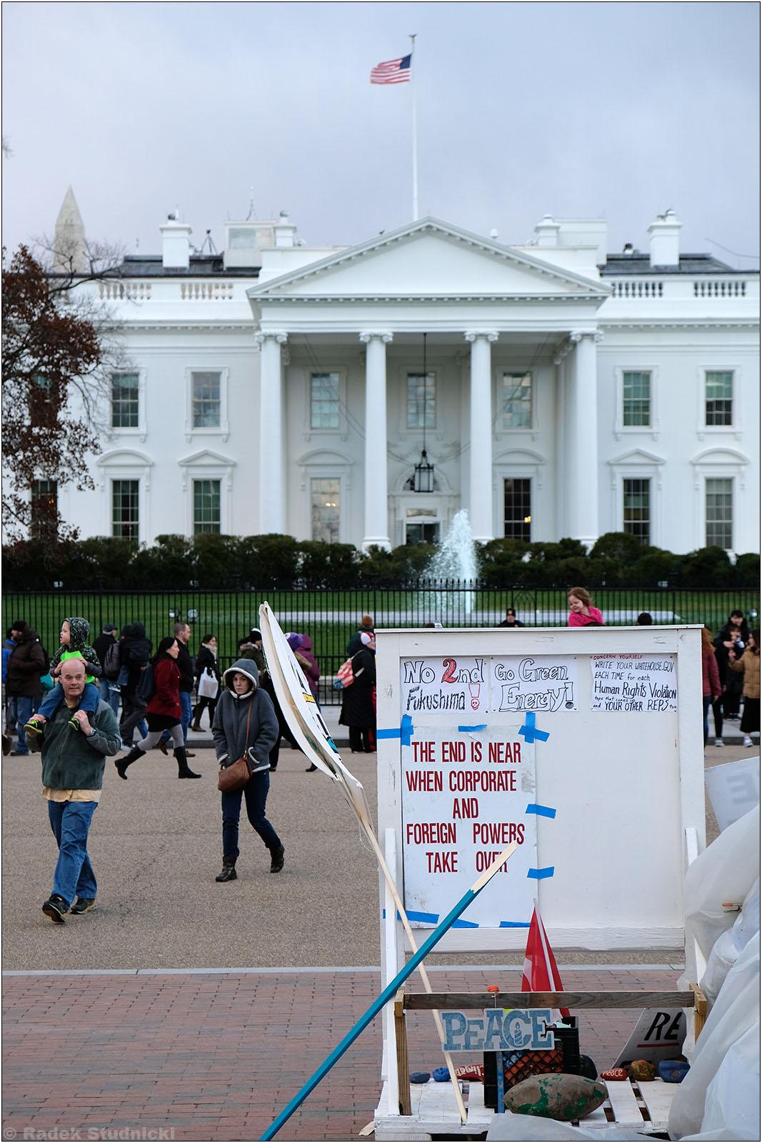Protest przed Białym Domem