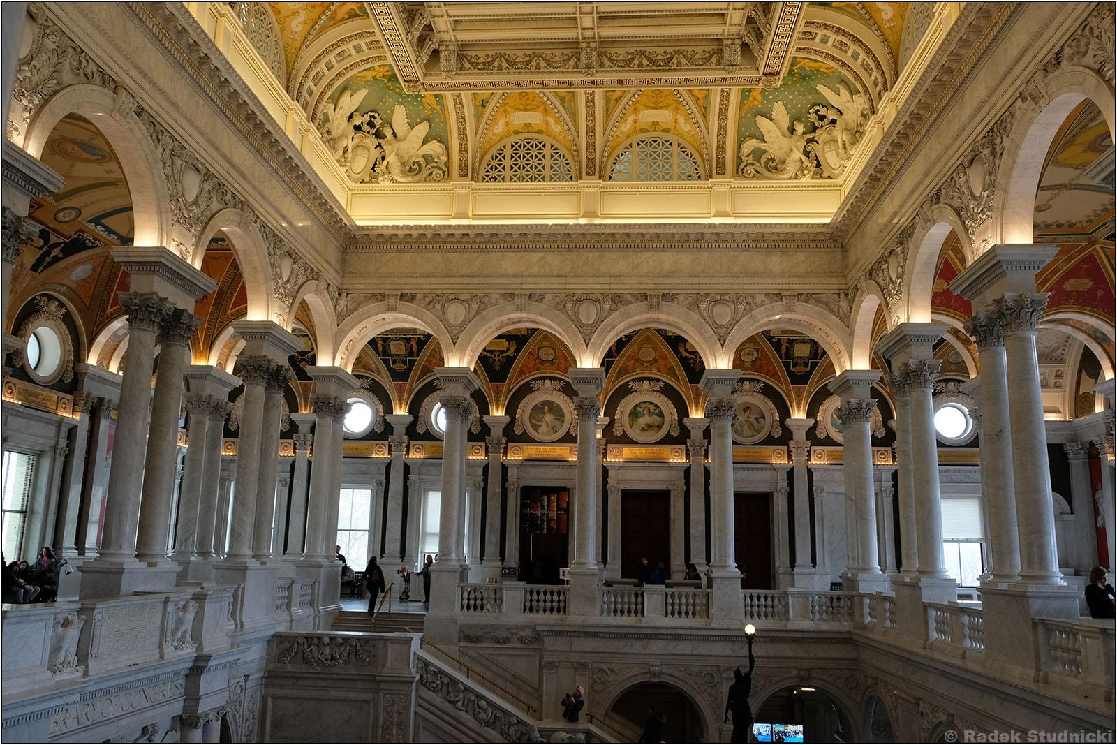 Wnętrze Biblioteki Kongresu