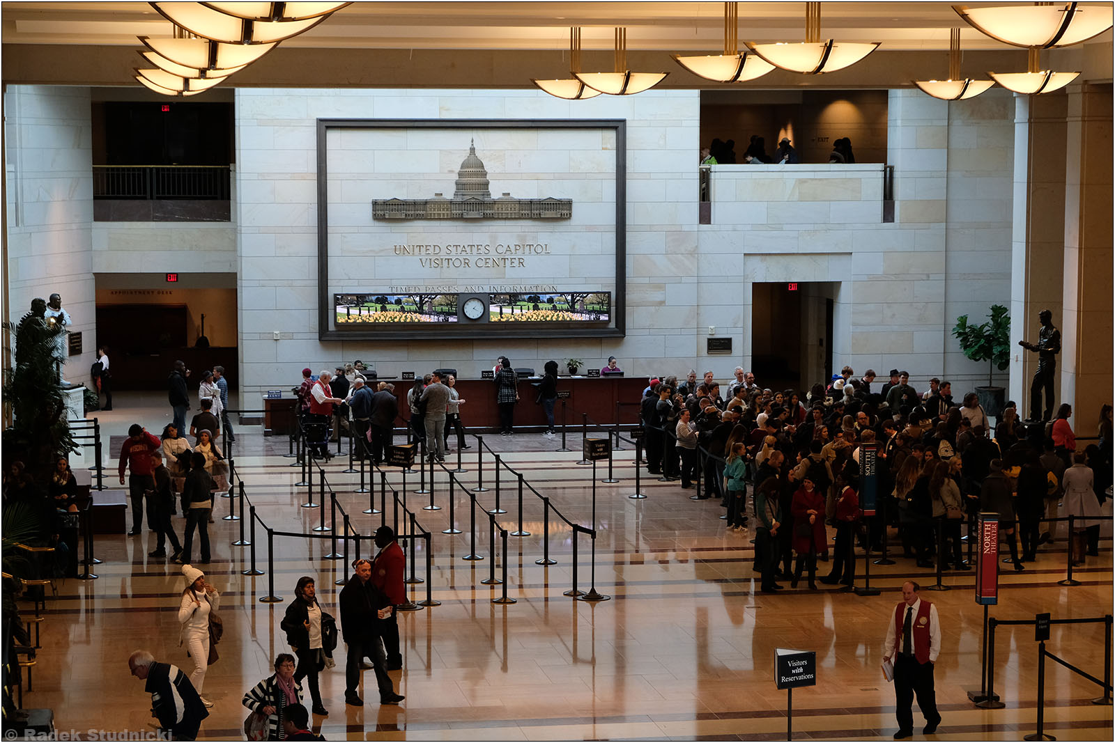 Wnętrze Kapitolu w Waszyngtonie