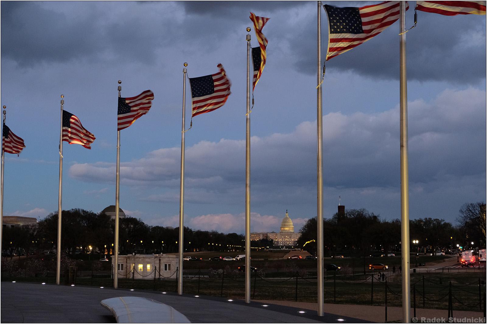 Flagi USA w Waszyngtonie