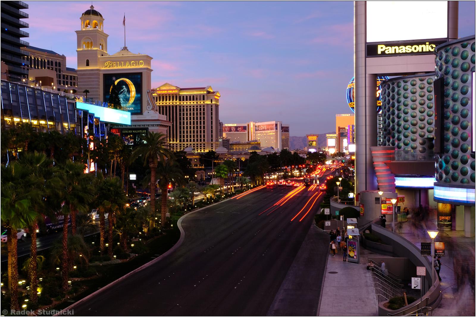 Ulice Las Vegas nocą