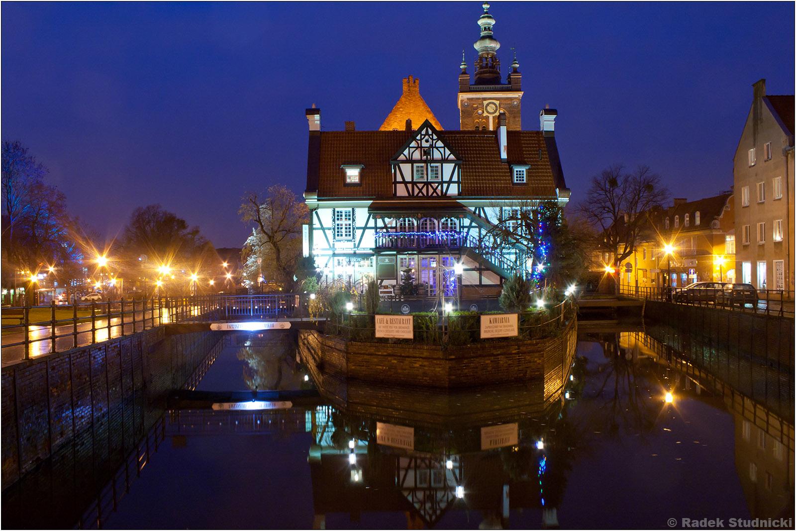 Gdańsk nocą, kościół św.Katarzyn