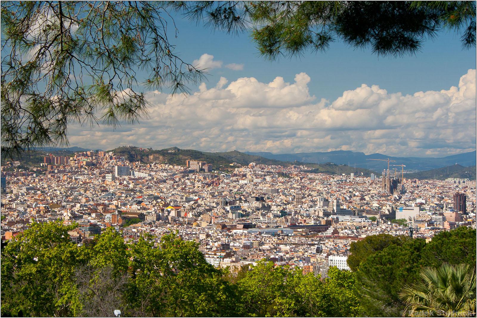 Widok na Barcelonę z Montjuic