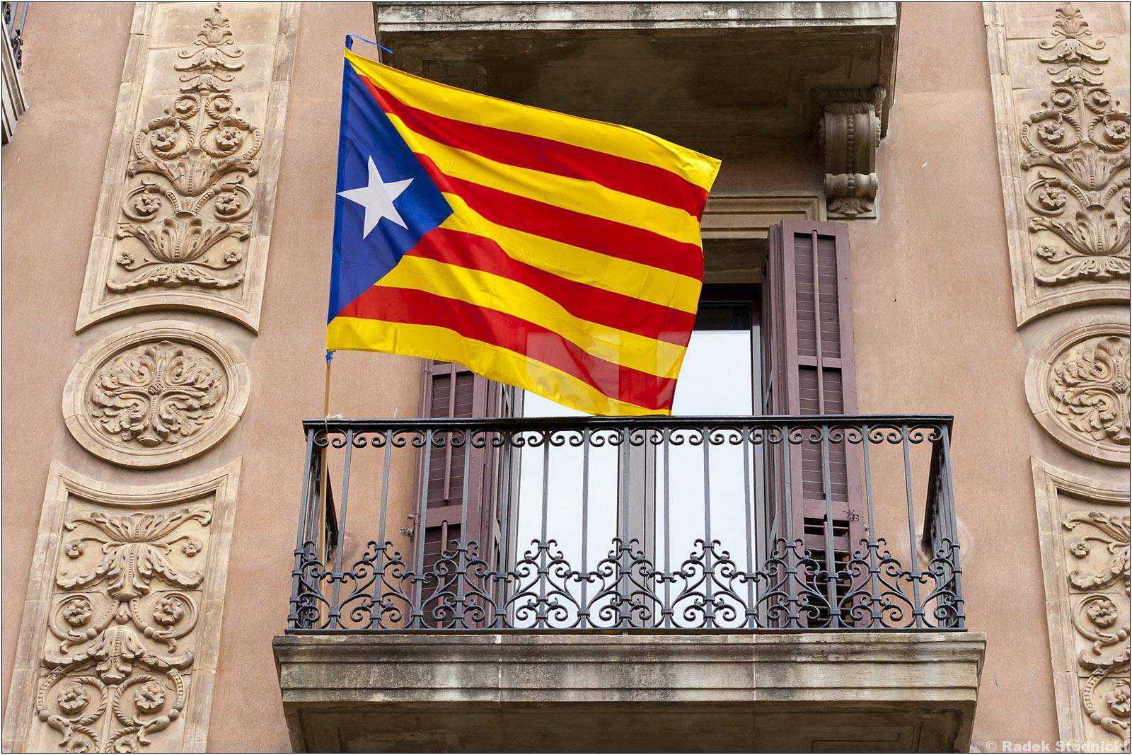 Flaga niepodległej Katalonii