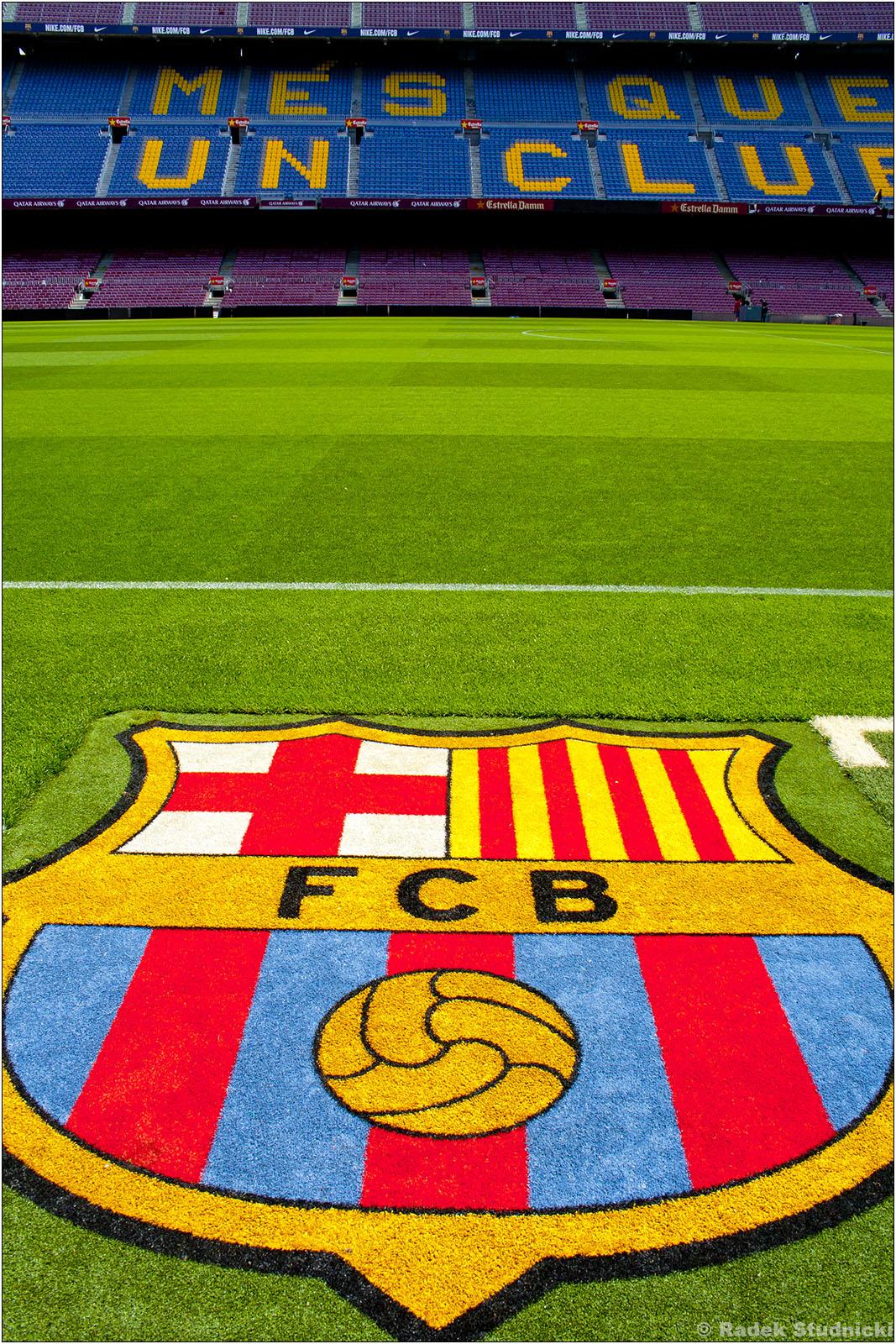 Camp Nou i herb FC Barcelona