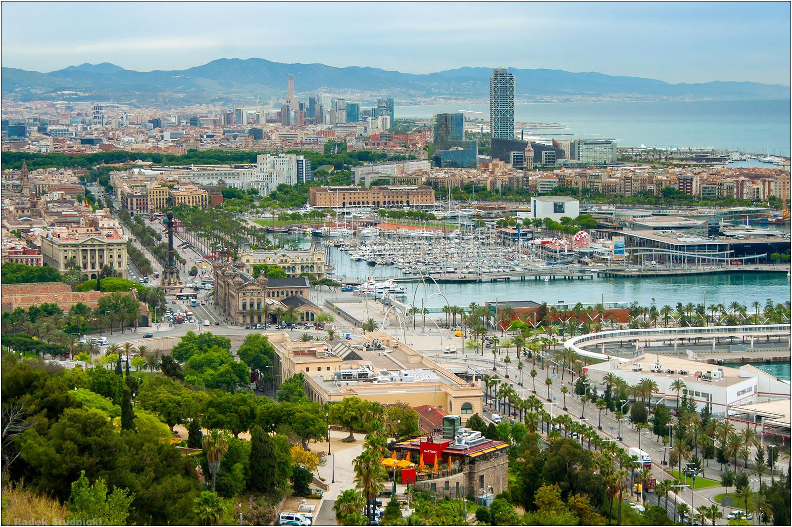 Barcelona: Widok z Montjuic