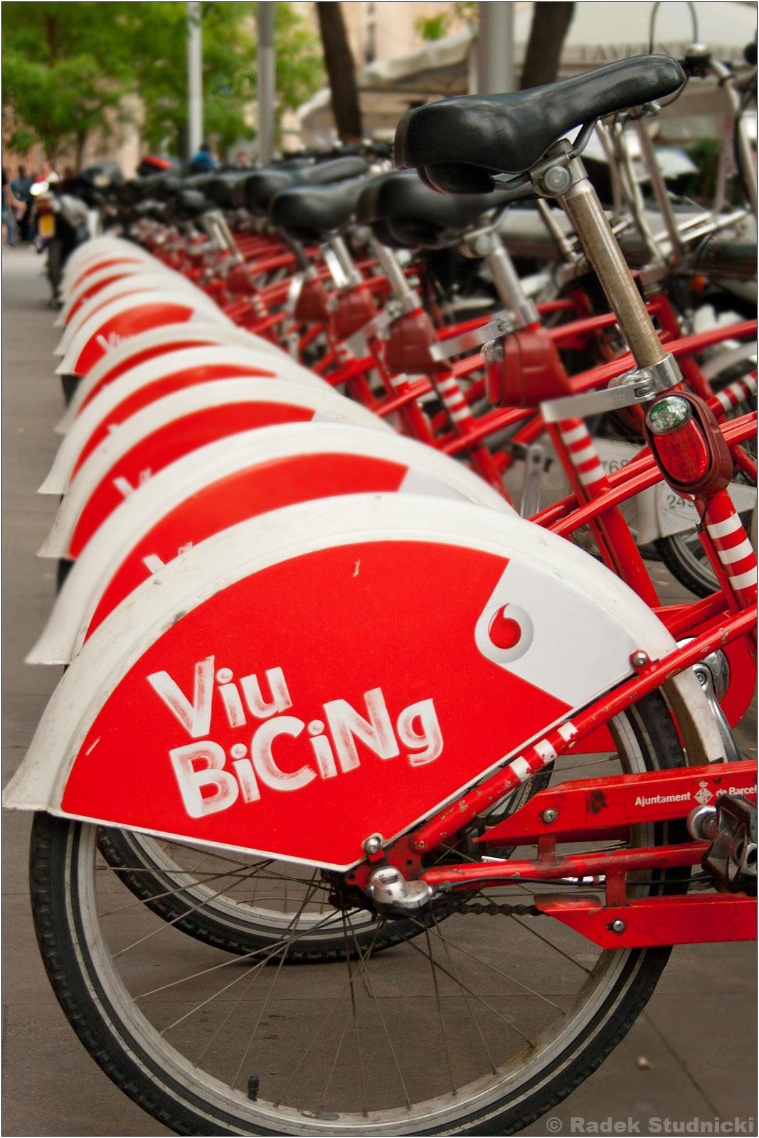 Rowery miejskie w Barcelonie