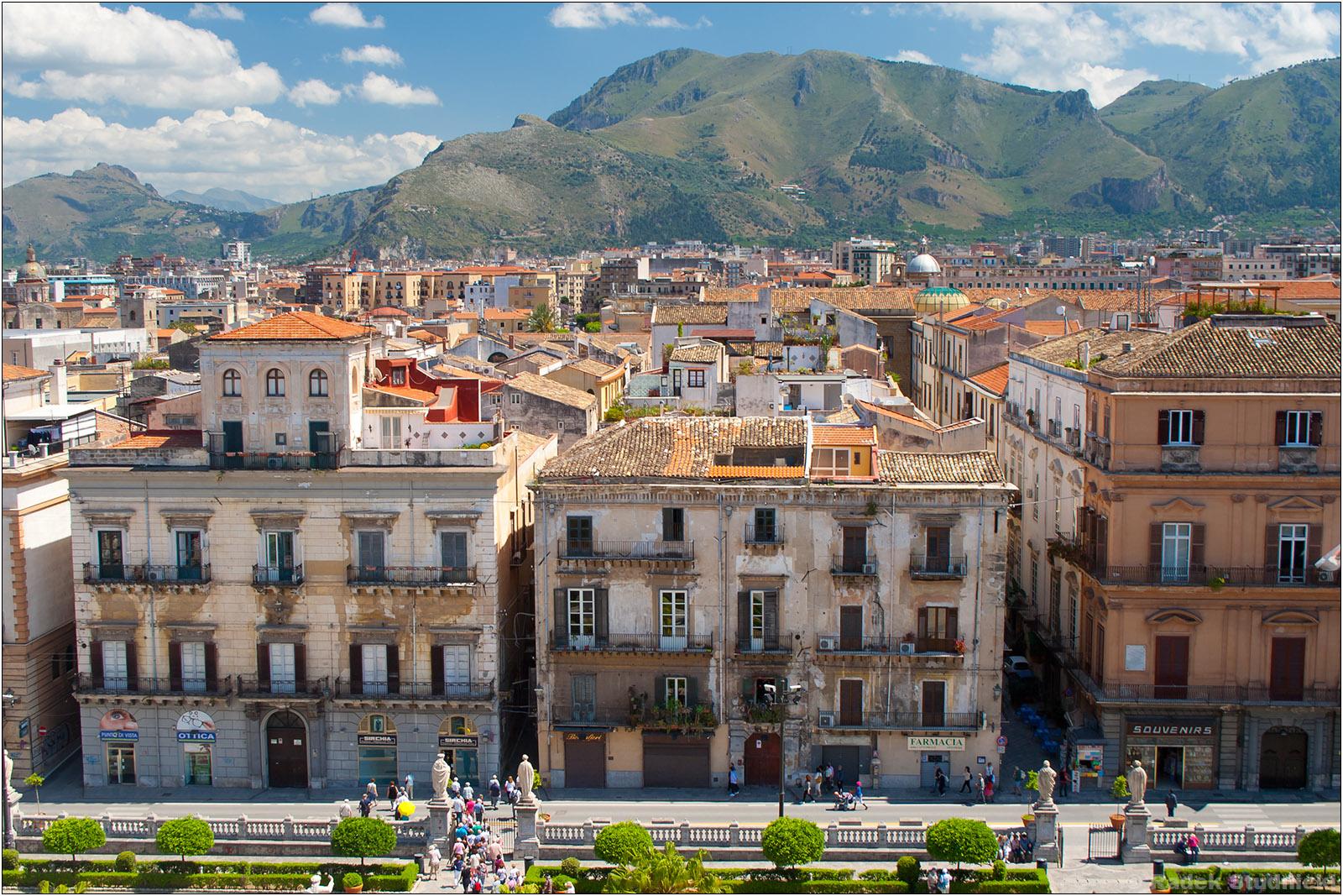 Widok z katedry w Palermo