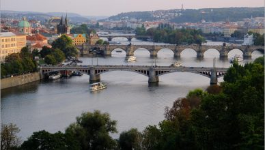 Widok na praskie mosty