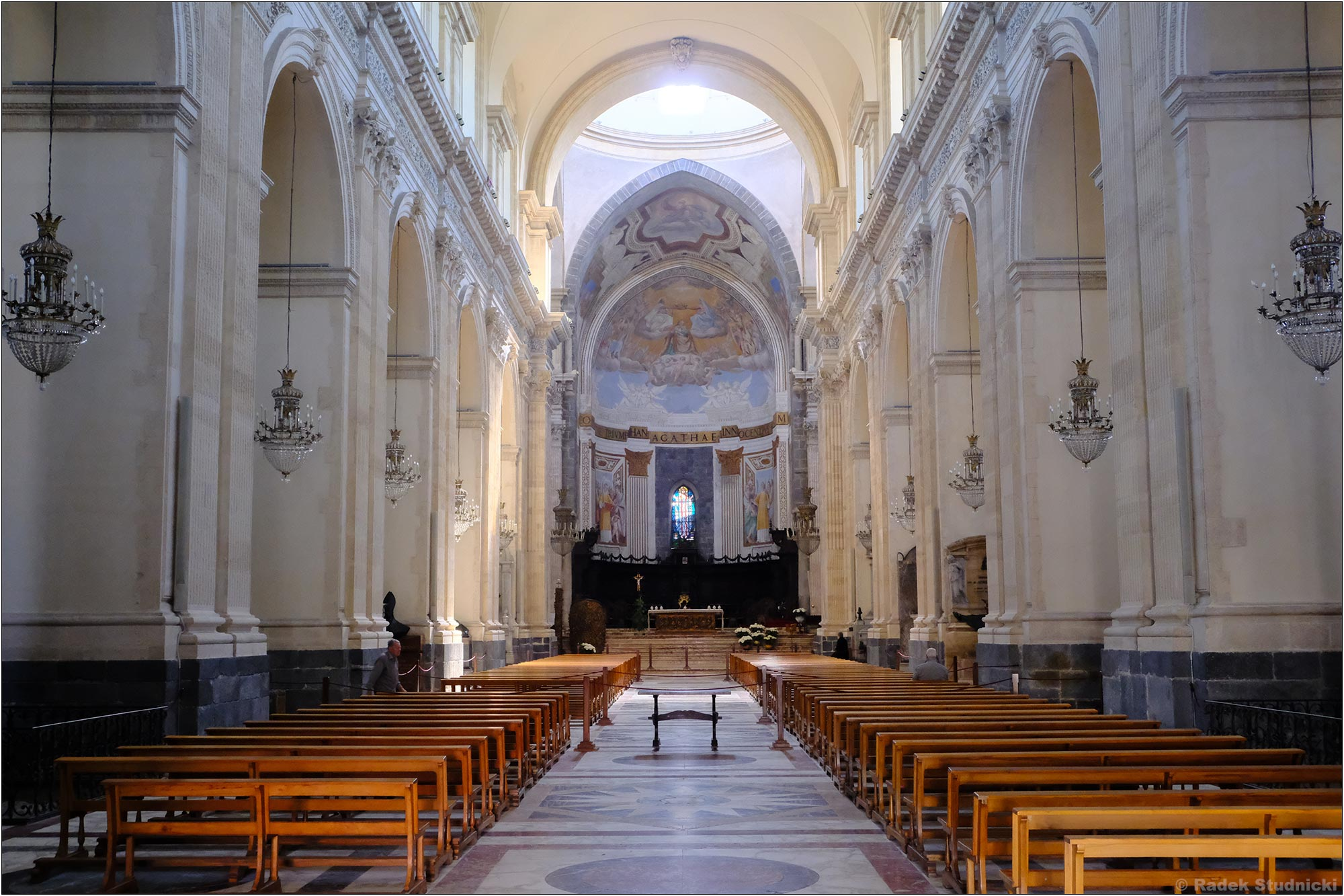 Wnętrze bazyliki św.Agaty