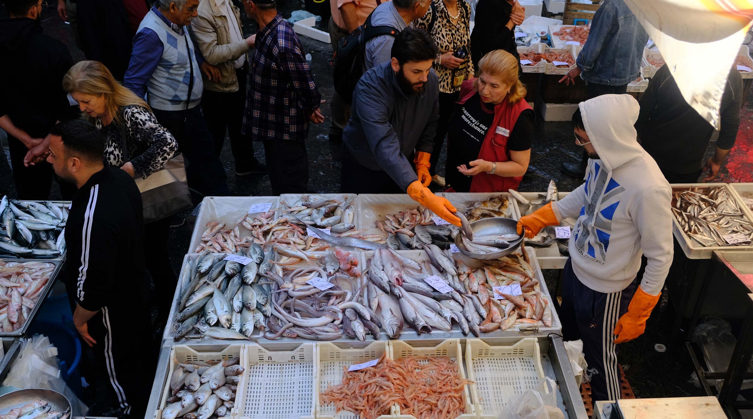 Targ rybny w Katanii