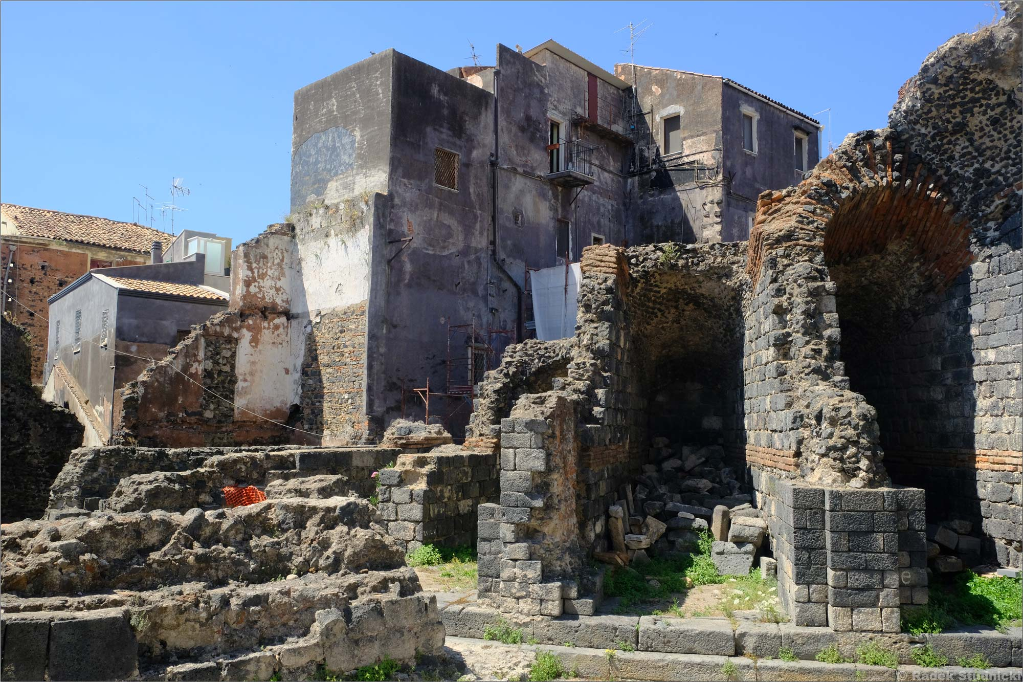 Ruiny rzymskiego amfiteatru