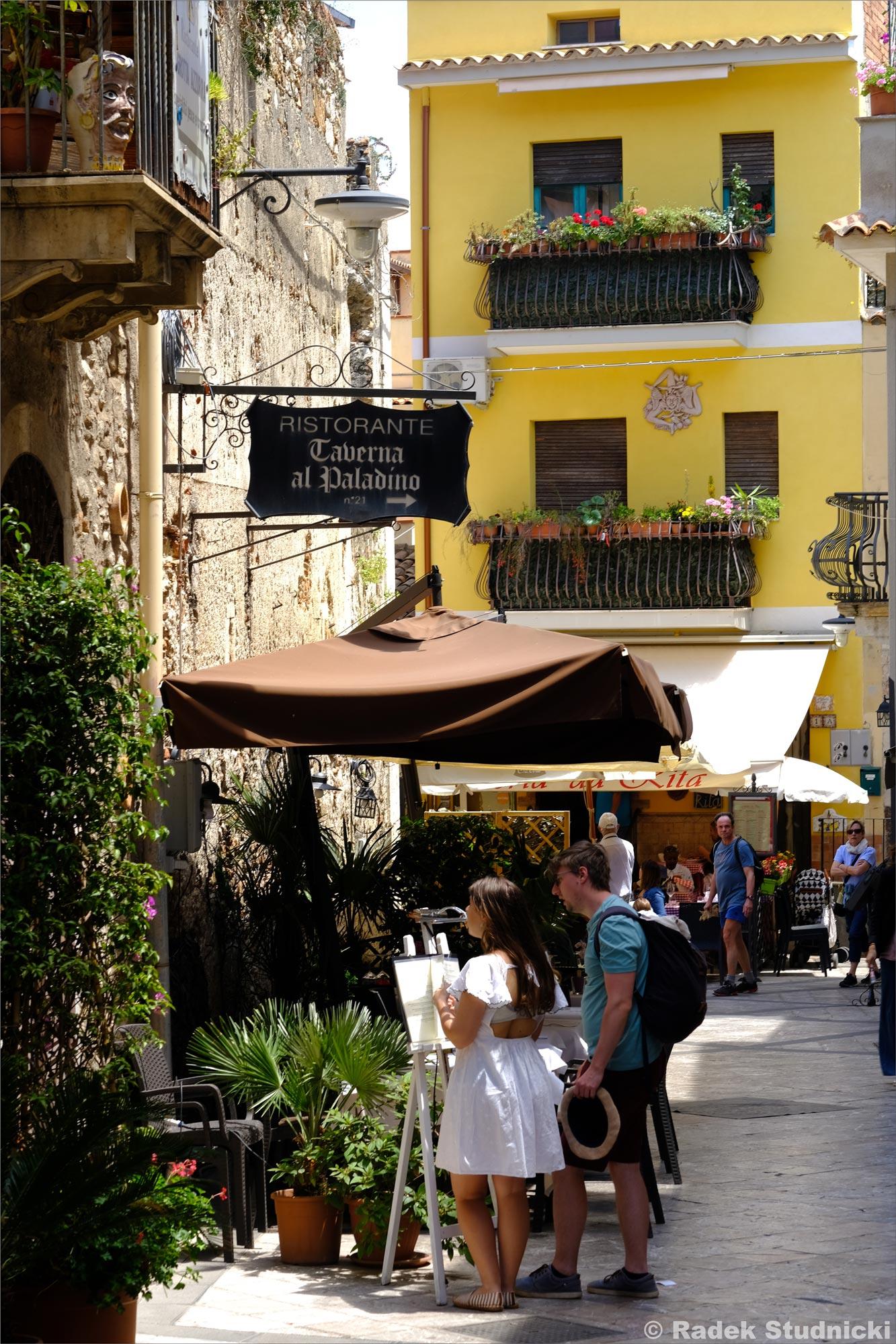 Restauracja w Taorminie