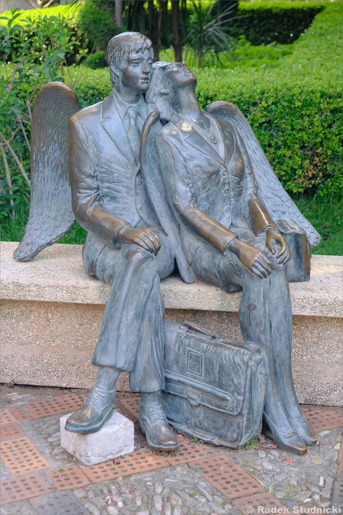 Pomnik w Parku w Taorminie