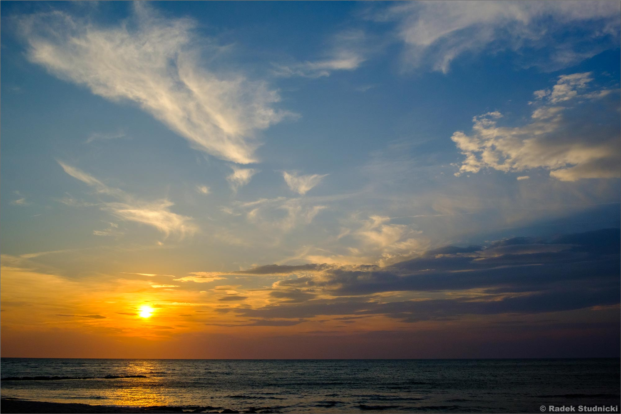 Zachód słońca w Massachusetts