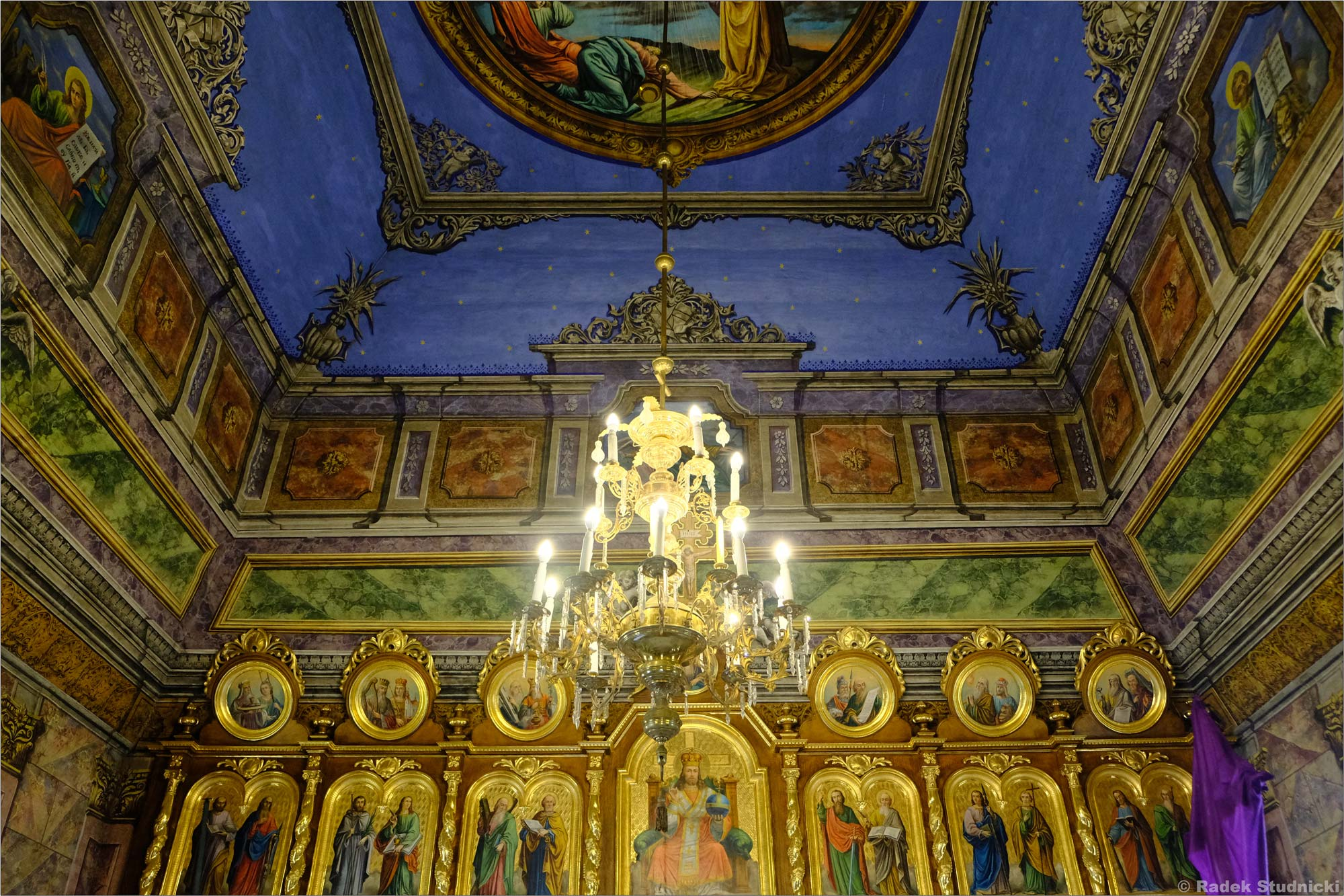 Wnętrze cerkwi w Kwiatoniu