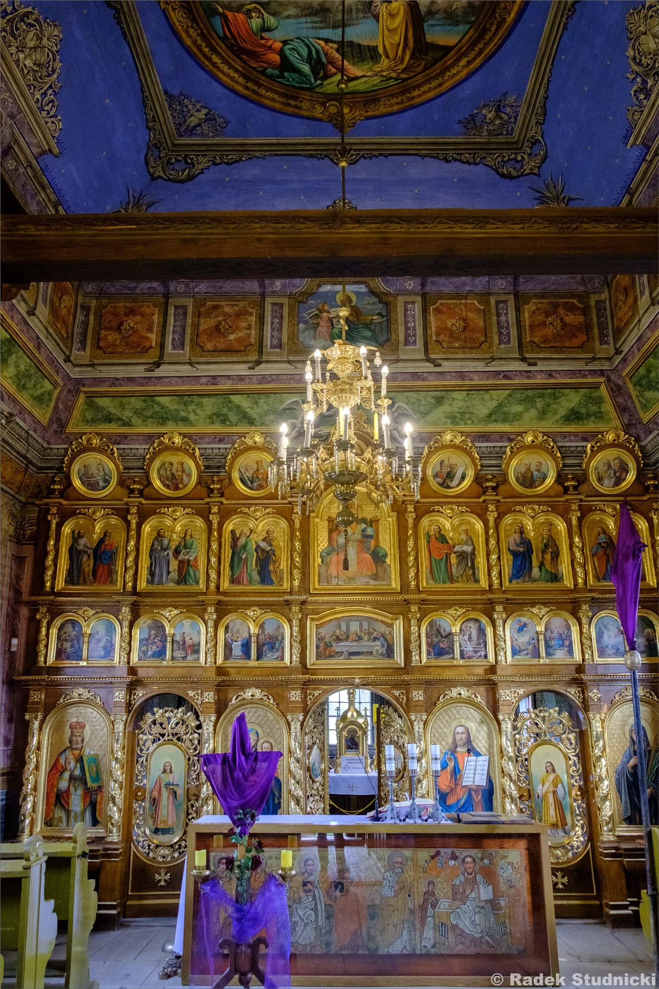 Wnętrze, Cerkiew św. Paraskewy w Kwiatoniu