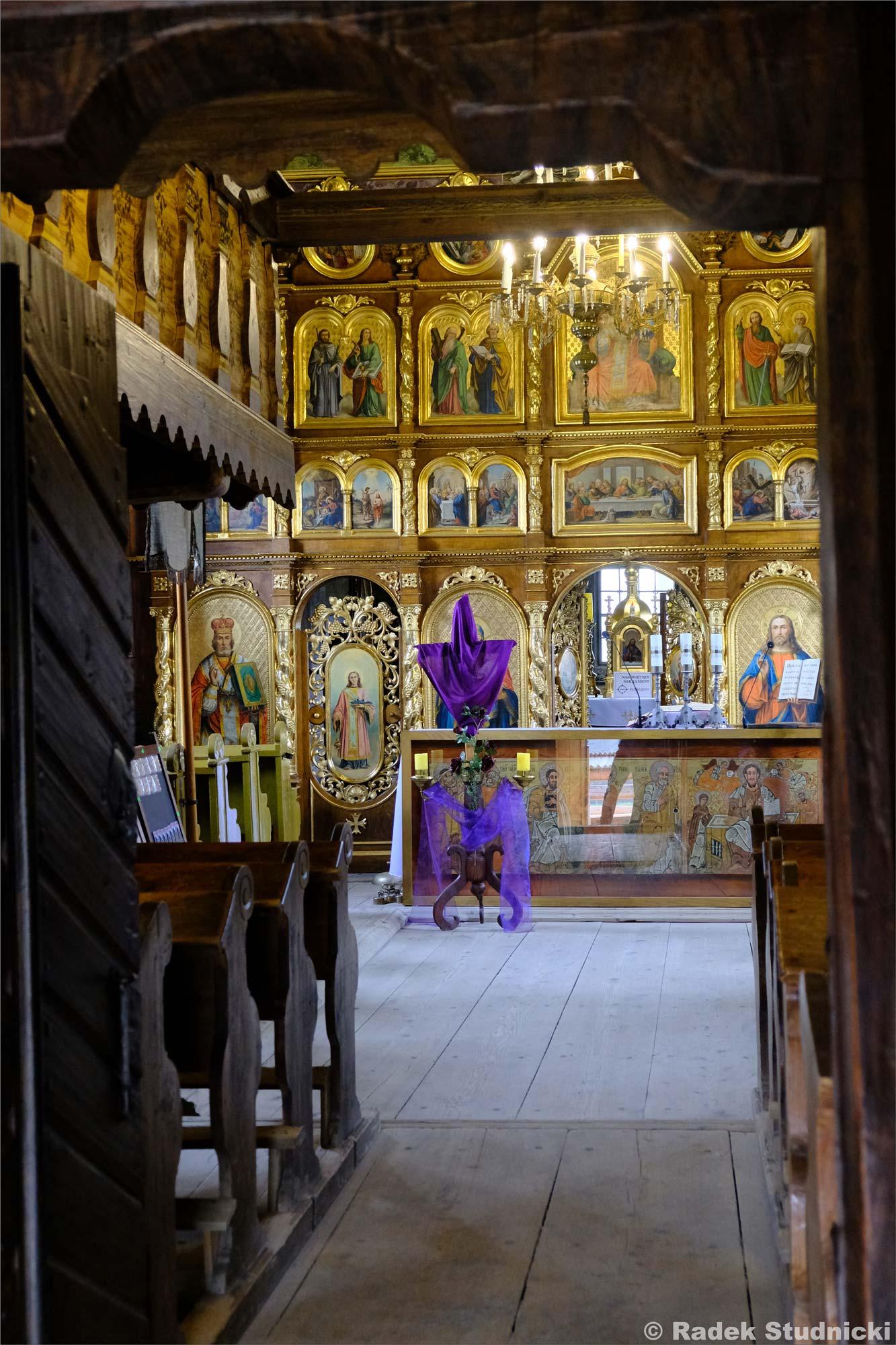 Cerkiew św. Paraskewy w Kwiatoniu wnętrze