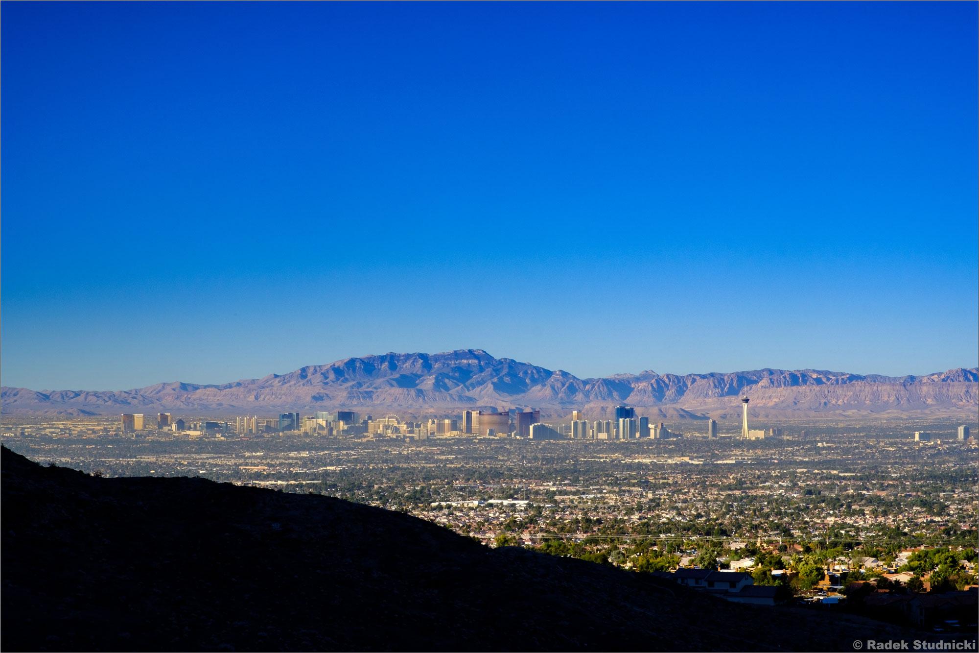 Widok na Las Vegas