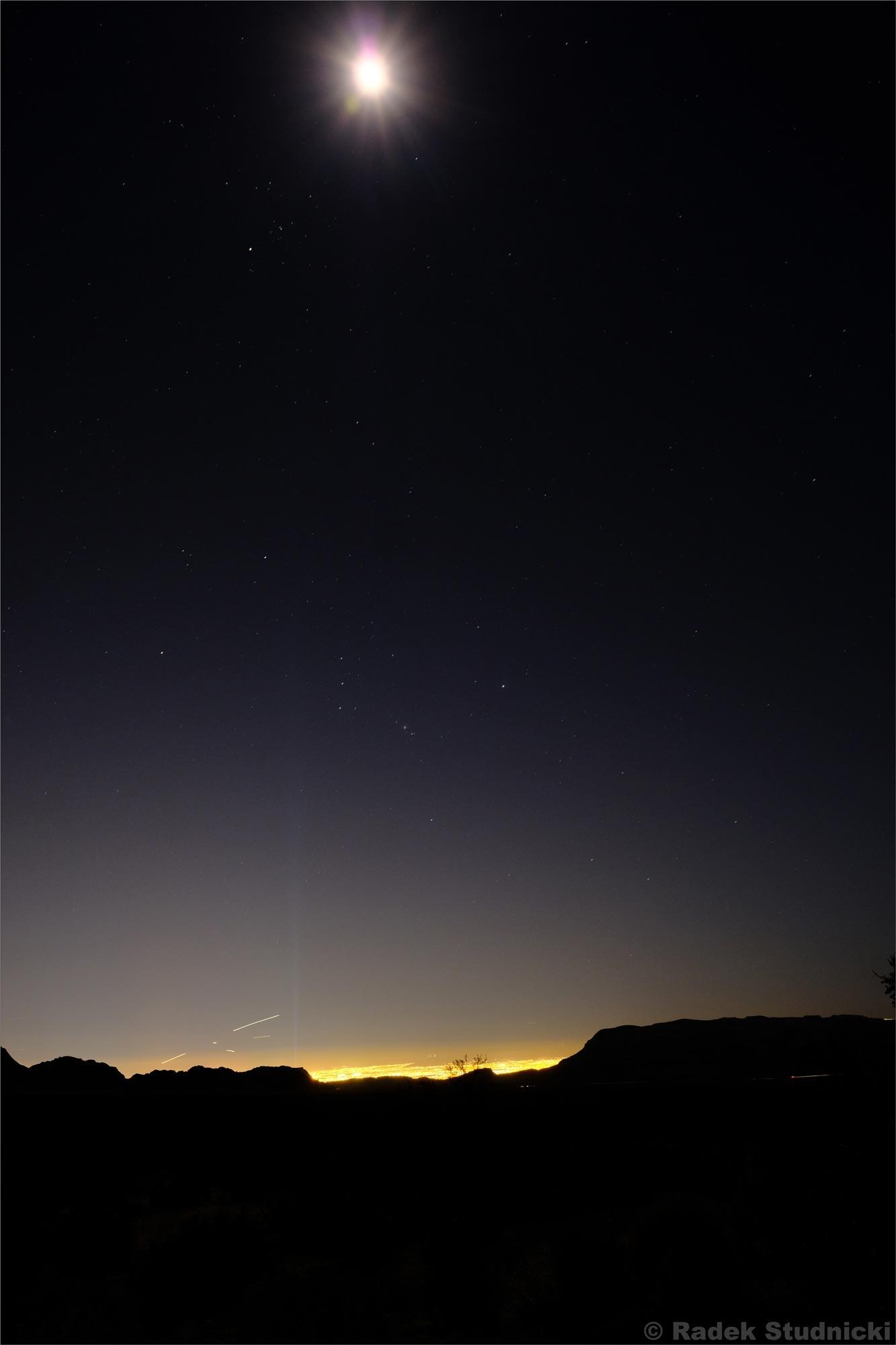 Widok na Las Vegas nocą