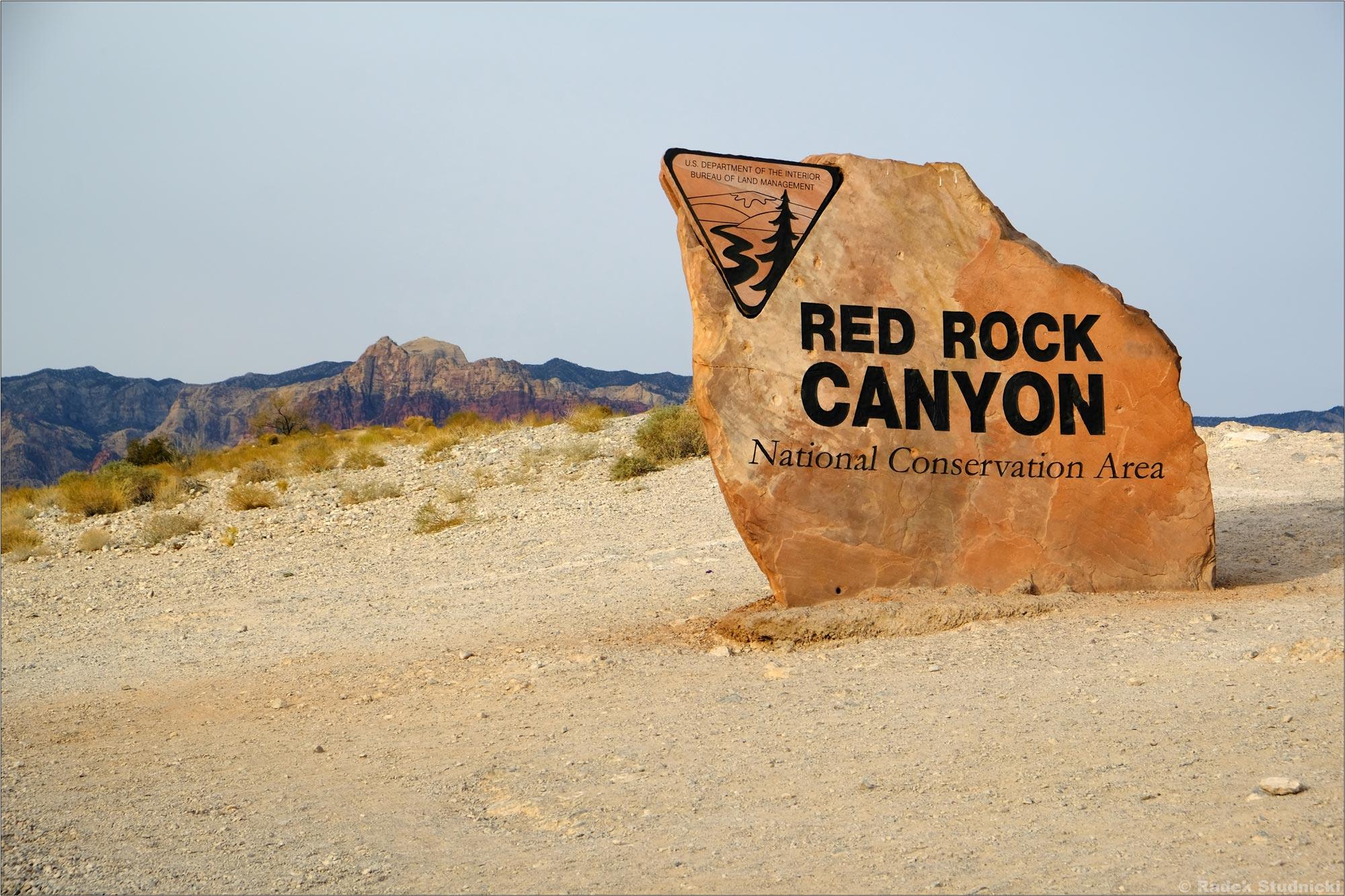 Wjazd do Red Rock Canyon