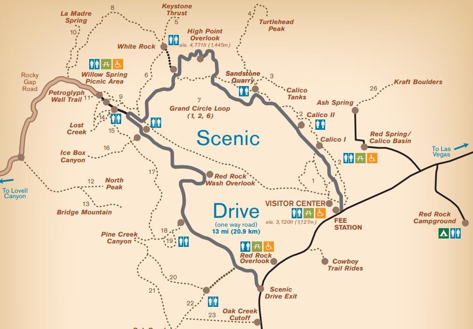 Mapa Scenic Drive