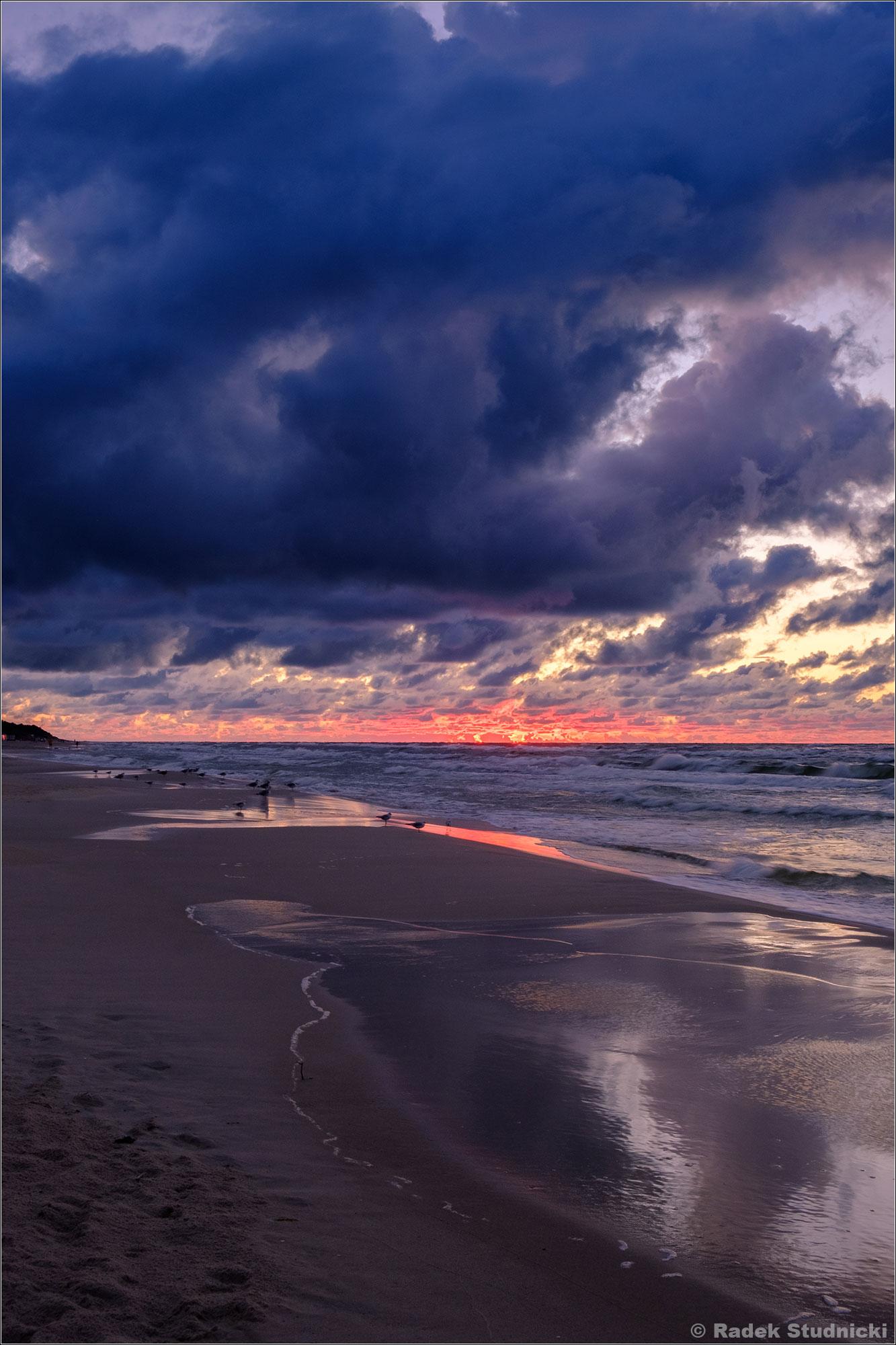 Nocne niebo nad Bałtykiem